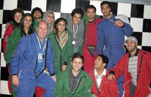 Go-Karting students