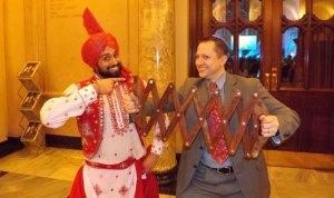 Dr Attrill tries his hand at Indian dancing.  But do you recognise the dancer?