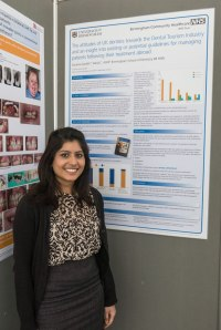 Sunaina Ghandi, final year student with her poster