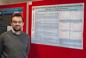 Martin with his highly commended poster.