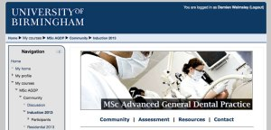 MSc in Advanced General Dental Practice - Distance Learning