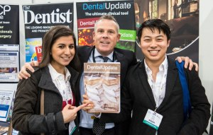 Dental students at the Dental Update stand