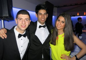 Andrew, Kuran and Negar at the EDSA silver jubilee dinner.