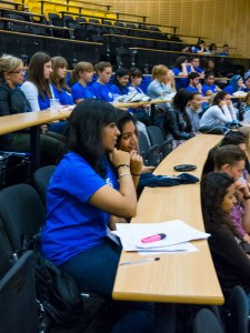 Our students attending a lecture on Bank Holiday Monday