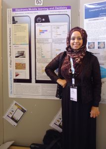 Binnish during poster session