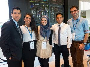 Cristina and Maryam with dental and medical students from across U21 network