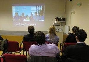Krishna Patel presenting her work.
