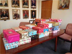 Shoeboxes all ready to go