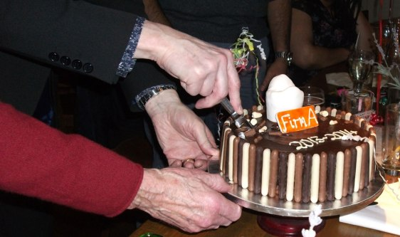 Drilling the cake