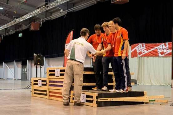 The Birmingham team receiving their medals