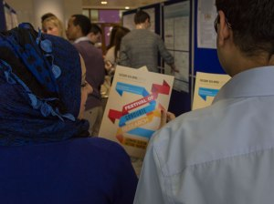 Students view the programme