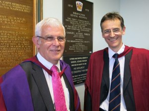 Prof Marquis, guest of honour and Prof Lumley
