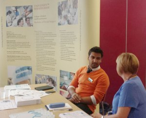 The Dentistry stand at Open Day