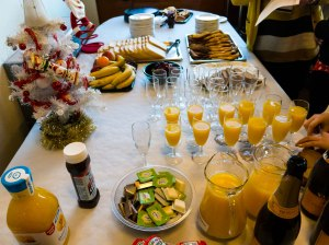 Christmas breakfast, dental school style