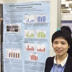 Qianhia Gao by her poster