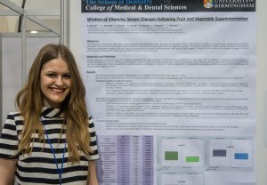 Patricia Gorecki by her poster