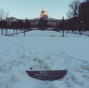 Boston Common in the snow