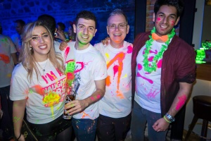 The Birmingham delegation at the Neon Party