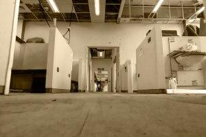 Looking along the corridor