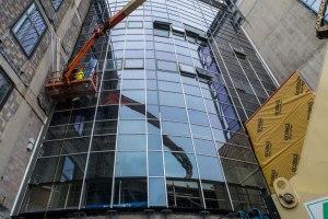 Glass windows (staff entrance)