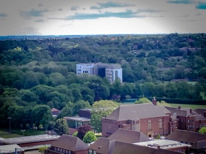 Aerial View of the Dental School
