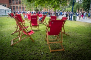 Deckchairs at the ready