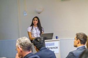 Miss Bal Nandra presenting her work.