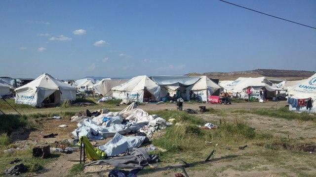Small section of Nea Kavala Refugee Camp