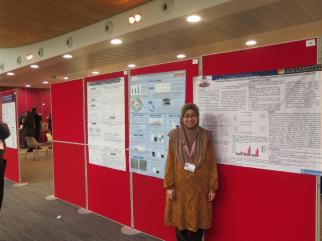 Nurul by her poster