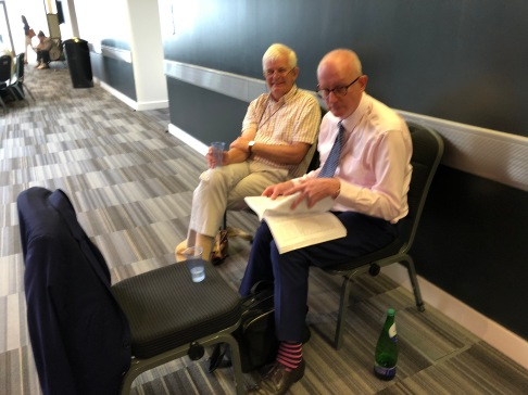 Prof Watson (Chair of PEF-IADR) and Prof David Bartlett one of our successful Alumni