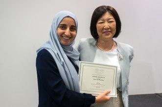 Arwa Al-Maswary receiving her Pulp Biology travel award