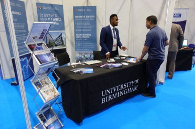 Dr Mo Hadis on the School of Dentistry stand